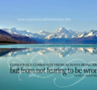 Not Fearing To Be Wrong by Peter McIntyre Inspirational Quote Graphic