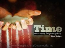 Time by Alice Walker Inspirational Thought Graphic