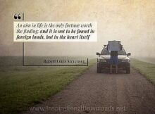 Aim In Life by Robert Louis Stevenson Inspirational Thought Graphic