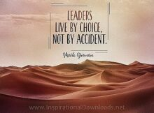 Leaders Live By Choice by Mark Gorman Inspirational Thought Graphic