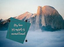Love For Myself (A Positive Affirmation) Inspirational Thought Graphic