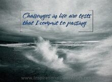 Challenges In Life (A Positive Affirmation) Inspirational Quote Graphic