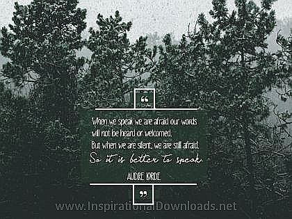 Better To Speak by Audre Lorde Inspirational Thought Graphic