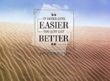 You Just Get Better by Jordan Hoechlin Inspirational Thought Graphic
