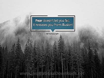 Fear by SJ Vishwanath Inspirational Thought Graphic