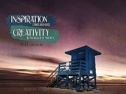 Creativity by Phil Cousineau Inspirational Thought Graphic