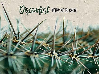 Helps Me To Grow (A Positive Affirmation) Inspirational Thought Graphic
