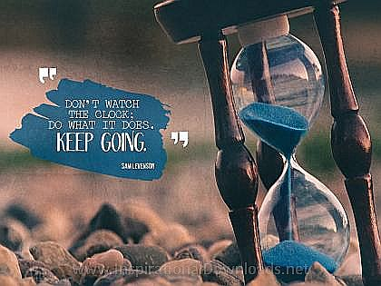 Keep Going by Sam Levenson Inspirational Thought Graphic