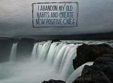 New Habits (A Positive Affirmation) Inspirational Thought Graphic