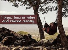 Know How To Relax (A Positive Affirmation) Inspirational Thought Graphic