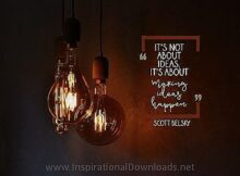 Making Ideas Happen by Scott Belsky Inspirational Thought Graphic