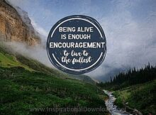 Live To The Fullest (A Positive Affirmation) Inspirational Thought Graphic
