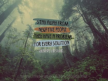 Stay Away by Albert Einstein Inspirational Thought Graphic