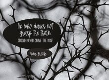 Grasp The Thorn by Anne Bronte Inspirational Thought Graphic