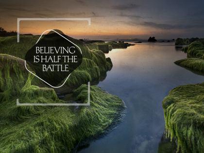 2851-Believing Inspirational Wallpaper