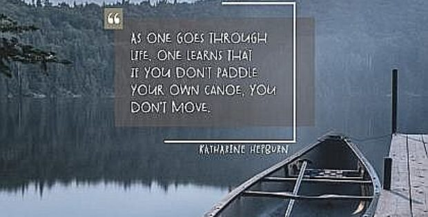 2738 Paddle Your Own Canoe by Katharine Hepburn