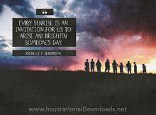 2739 Brighten Someone's Day by Richelle Goodrich Inspirational Quote