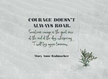 2751 Will Try Again Tomorrow by Mary Anne Radmacher Inspirational Quote Graphic